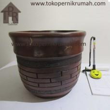 Gerabah, Natural Pot  Bata Susun - T19