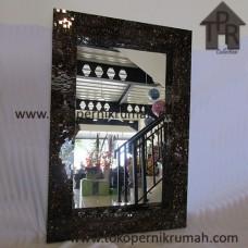 Cermin, Mosaik Kotak Coklat Scramble Gold
