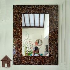 Cermin, Mosaik Portrait Coklat - B1