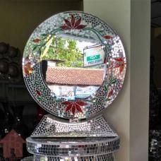 Cermin, Mosaik Bulat  Stand - B