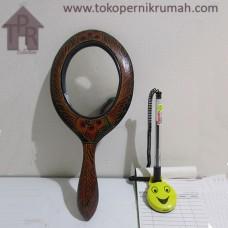 Kayu Batik, Cermin Gagang Merah/Hitam Polos