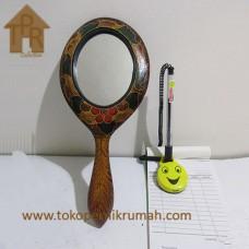 Kayu Batik, Cermin Gagang Krem/Hitam