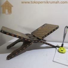 Kayu Batik, Rekal Al Qur'an Hitam Creamy - L