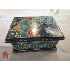 Kayu Batik, Kotak Perhiasan - Blues