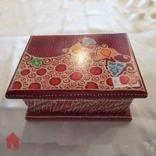 Kayu Batik, Kotak Perhiasan - Merah
