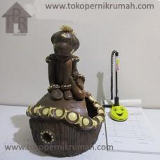 Gerabah, Natural Asbak Asmat - Coklat