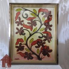 Lukisan - Dot Painting Motif Bunga-2