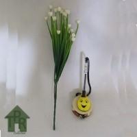 Bunga, Artifisial Mini Kucai Ros - Putih