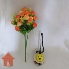 Bunga, Artifisial Mini Mawar Klereng - Pink