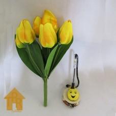 Bunga, Artifisial Tulip Bludru - Kuning
