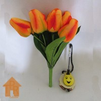 Bunga, Artifisial Tulip Bludru - Orange