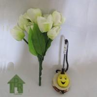 Bunga, Artifisial Mini Tulip - Putih