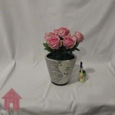 Bucket, Vas Meja Mawar Pink.